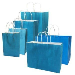 niebieskie torby papierowe
